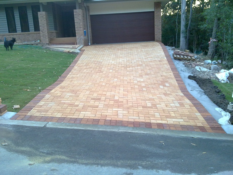 cobble paving driveway clay pavers cobble