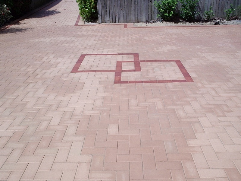 driveway paving clay pavers feature