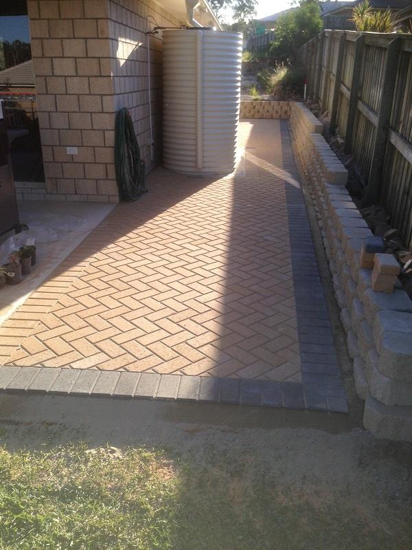 paving path concrete pavers  border