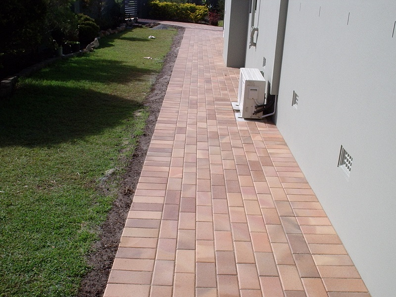 paving pathway clay pavers