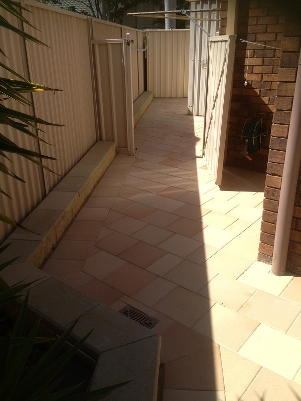 paving pathway clay pavers gold