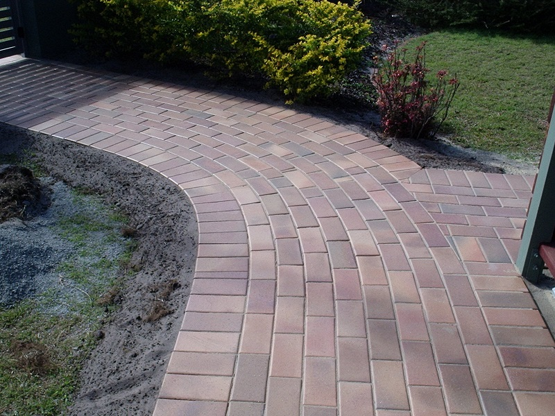 paving pathway clay pavers