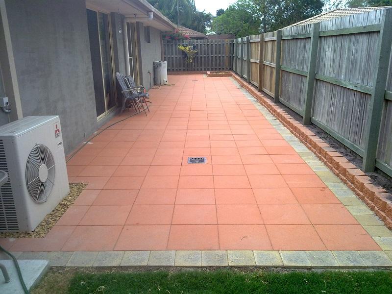Patio Paving Concrete Pavers 400x400 Border