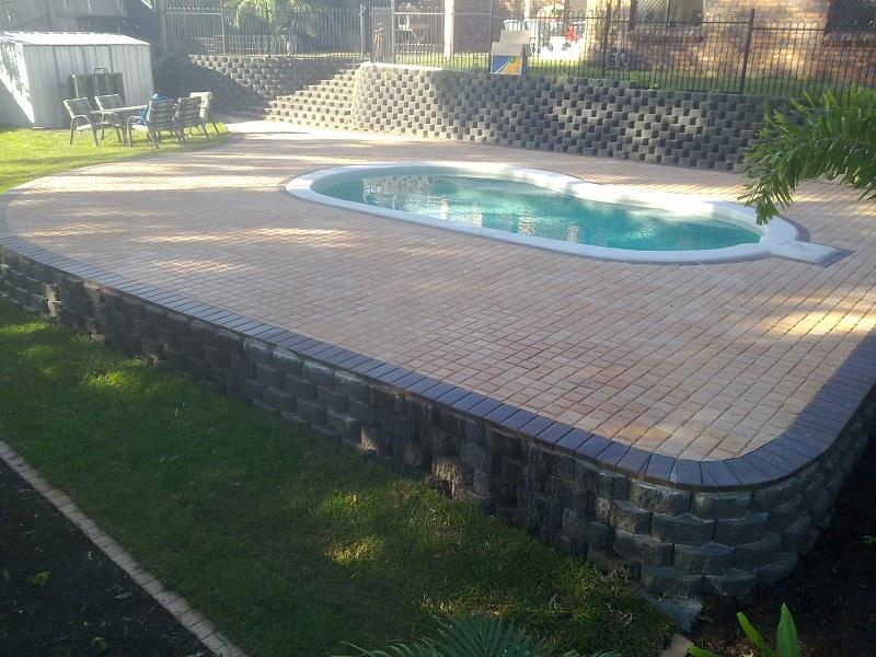 paving pool clay paver