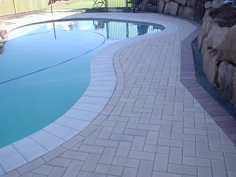 paving pool clay paver