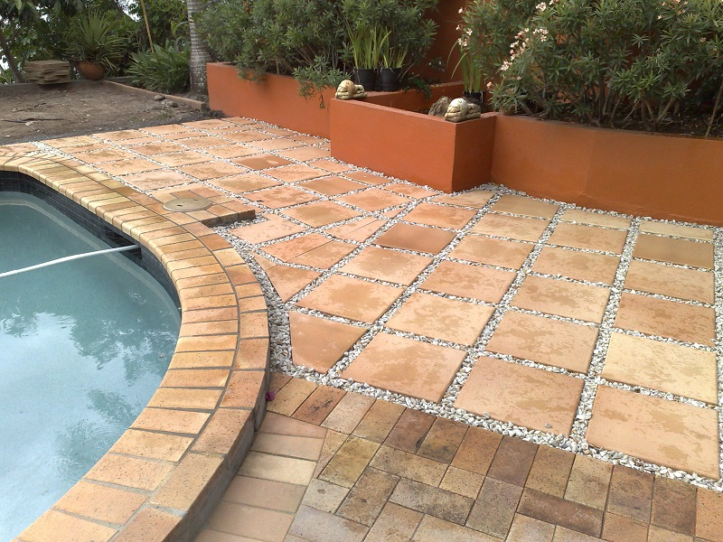 Gold Coast paving pool concrete pavers 400x400 steppers