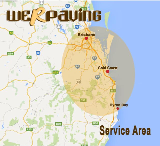 We R Paving Service Area